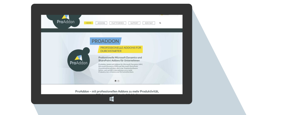 ProAddon Professionelle Addons fuer Microsoft Dynamics und Microsoft SharePoint